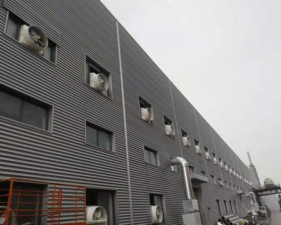 新乡亚博体育yabo88在线ios/厂房通风降温设备客户案例安装现场